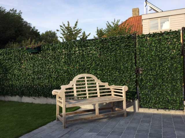 Kunst haagelementen Hedera helix in tuin